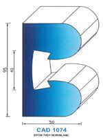 CAD1074B Profil EPDM   70 Shore   Blanc