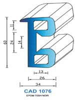 CAD1076N PROFIL EPDM - 70SH - NOIR