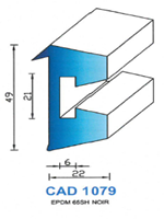 CAD1079N PROFIL EPDM - 65SH - NOIR
