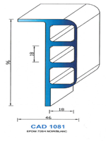 CAD1081N PROFIL EPDM - 70SH - NOIR