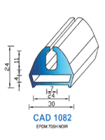 CAD1082N Profil EPDM   70 Shore   Noir