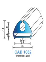 CAD1082N Profil EPDM [70SH] NOIR