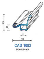 CAD1083N Profil EPDM   70 Shore   Noir