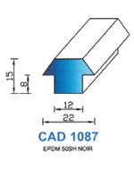 CAD1087N Profil EPDM   50 Shore   Noir