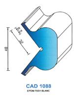 CAD1088B Profil EPDM   70 Shore   Blanc