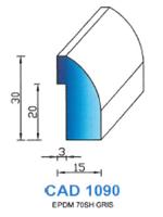 CAD1090G Profil EPDM   70 Shore   Gris