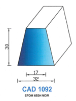 CAD1092N Profil EPDM   65 Shore   Noir