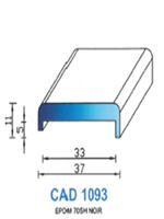 CAD1093N Profil EPDM [70SH] NOIR