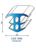 CAD1094N Profil EPDM   65 Shore   Gris