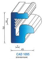 CAD1095B Profil EPDM   65 Shore   Blanc