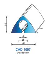 CAD1097N Profil EPDM   65 Shore   Noir