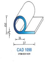 CAD1098N Profil EPDM   65 Shore   Noir