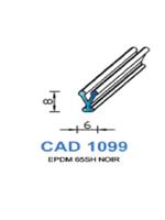 CAD1099N Profil EPDM   65 Shore   Noir