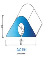 CAD1101N Profil EPDM   65 Shore   Noir