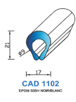 CAD1102B PROFIL EPDM - 50SH - BLANC