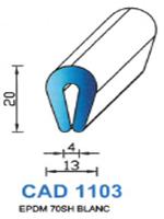 CAD1103B PROFIL EPDM - 70SH - BLANC