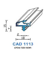 CAD1113N Profil EPDM   70 Shore   Noir