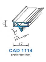 CAD1114N Profil EPDM   70 Shore   Noir
