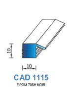 CAD1115N Profil EPDM   70 Shore   Noir