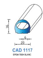 CAD1117B Profil EPDM [70SH] BLANC