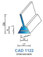 CAD1122N Profil EPDM <br /> 50 Shore <br /> Noir<br />