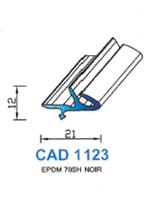 CAD1123N Profil EPDM   70 Shore   Noir