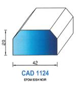 CAD1124N Profil EPDM   50 Shore   Noir