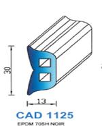CAD1125N Profil EPDM   70 Shore   Noir