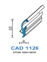 CAD1126N Profil EPDM   70 Shore   Noir
