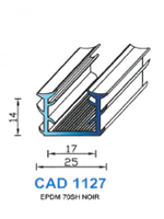 CAD1127N Profil EPDM   70 Shore   Noir