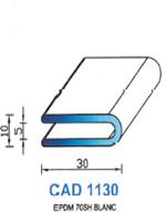 CAD1130B Profil EPDM <br /> 70 Shore <br /> Blanc<br />
