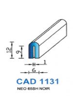 CAD1131N Profil NEO <br /> 65 Shore <br /> Noir<br />