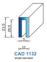 CAD1132N PROFIL EPDM - 70SH - NOIR