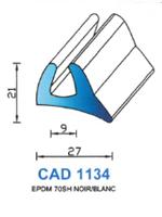 CAD1134B Profil EPDM   70 Shore   Blanc