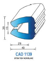 CAD1139N Profil EPDM <br /> 70 Shore <br /> Noir<br />