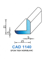 CAD1140N Profil EPDM <br /> 70 Shore <br /> Noir<br />