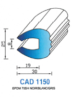 CAD1150B Profil EPDM <br /> 70 Shore <br /> Blanc<br />