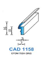 CAD1158G PROFIL EPDM - 70SH - GRIS