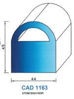 CAD1163N Profil EPDM   50 Shore   Noir
