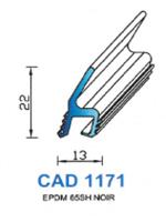 CAD1171N Profil EPDM   70 Shore   Noir