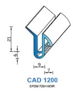 CAD1200N Profil EPDM   70 Shore   Noir