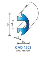 CAD1202N Profil EPDM   70 Shore   Noir