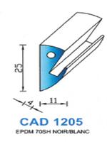 CAD1205N Profil EPDM   70 Shore   Noir