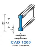 CAD1206N Profil EPDM   70 Shore   Noir