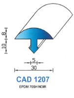 CAD1207N Profil EPDM   70 Shore   Noir