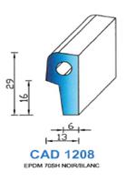 CAD1208N Profil EPDM   70 Shore   Noir