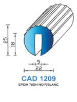 CAD1209B Profil EPDM   70 Shore   Blanc
