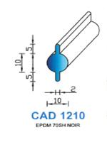 CAD1210N Profil EPDM   70 Shore   Noir