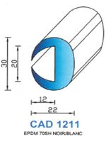 CAD1211G Profil EPDM   70 Shore   Gris