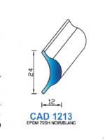 CAD1213B Profil EPDM   70 Shore   Blanc